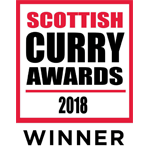Scottish Curry Awards Winner 2018