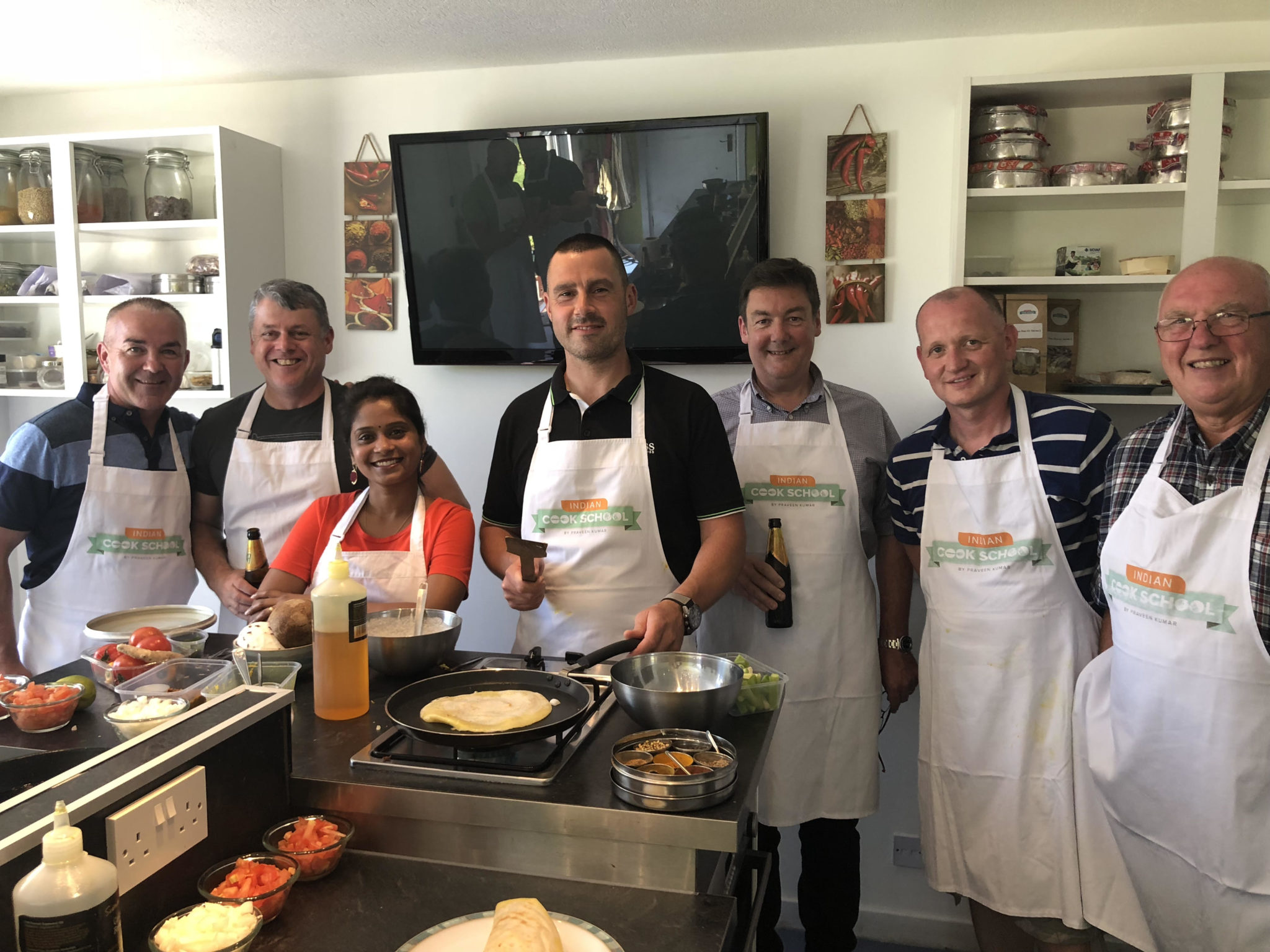 Swarna demonstrating at Inadian Cook School, Scotland